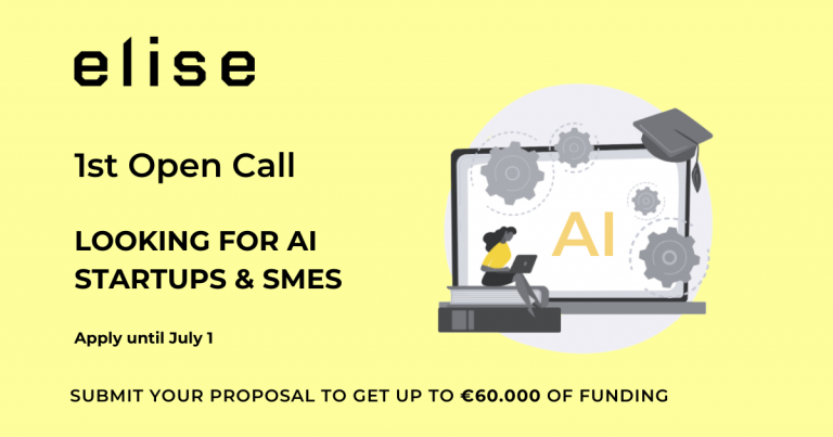 ELISE calls out for the best Artificial Intelligence Startups & SMEs!
